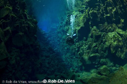 Silfra, Iceland, diving between the North American and Eu... by Rob De Vries 